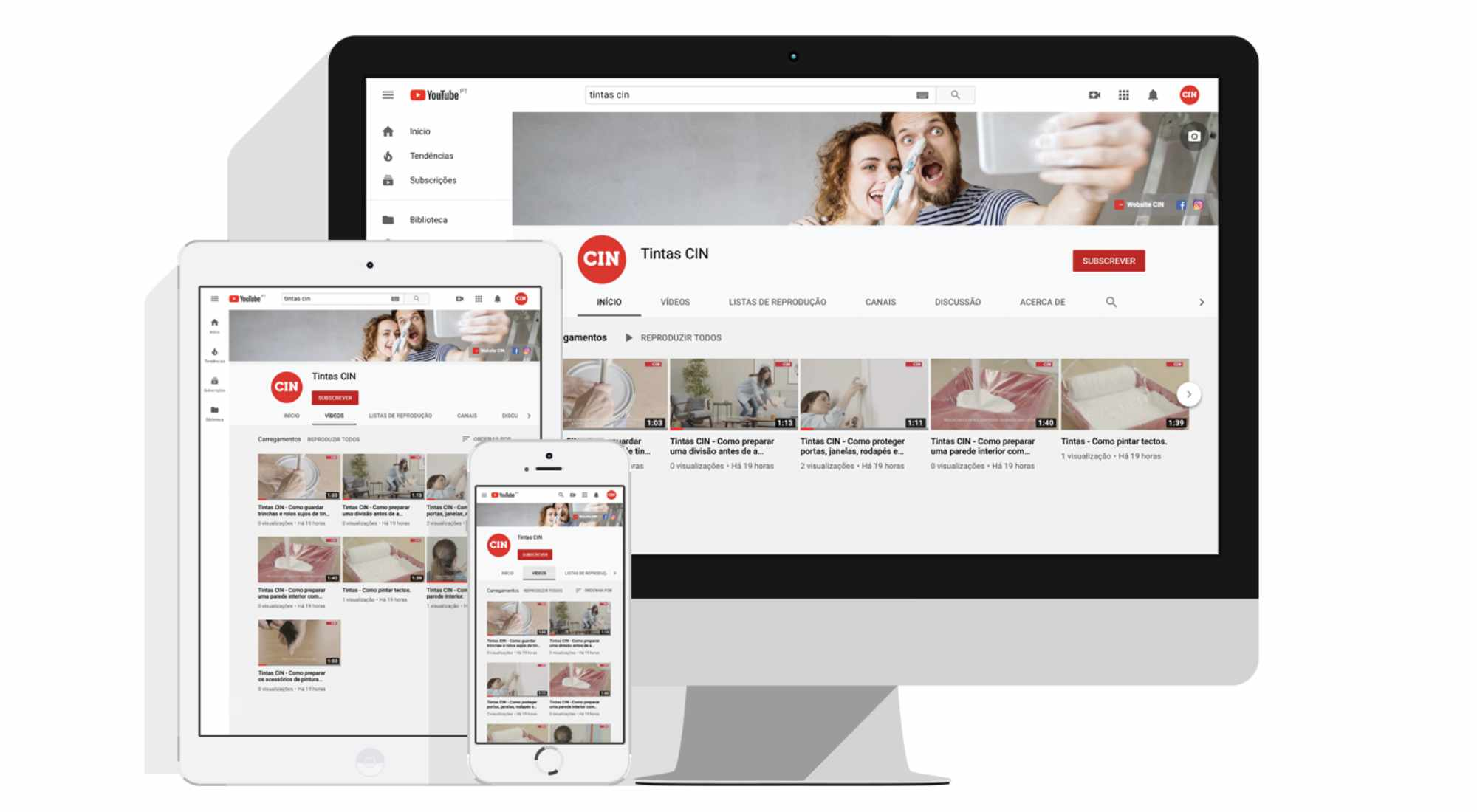 CIN has launched a YouTube channel to help customers learn how to perfectly paint a wall